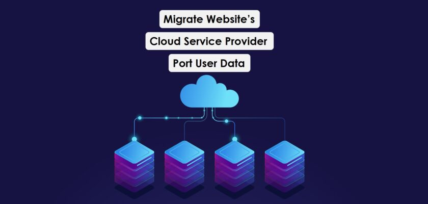 Migrating websites Cloud Service Provider and porting user data fast