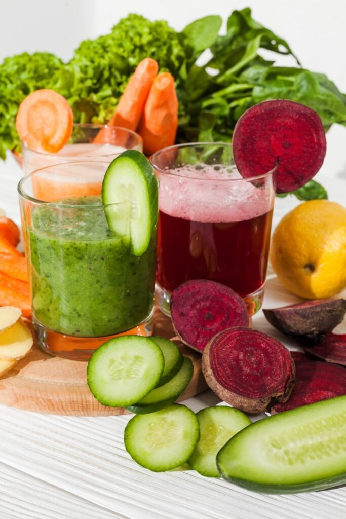 Carrot beetroot smoothie for skin