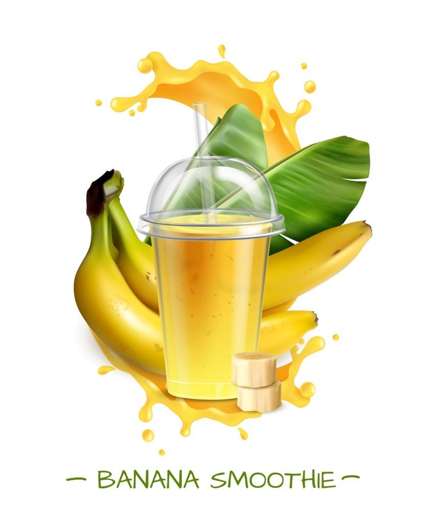 banana smoothie for glowing skin